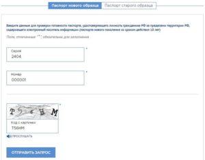 Форма проверки готовности загранпаспорта