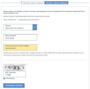 Заявка на проверку загранпаспорта