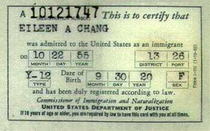 регистрационная карта I-151