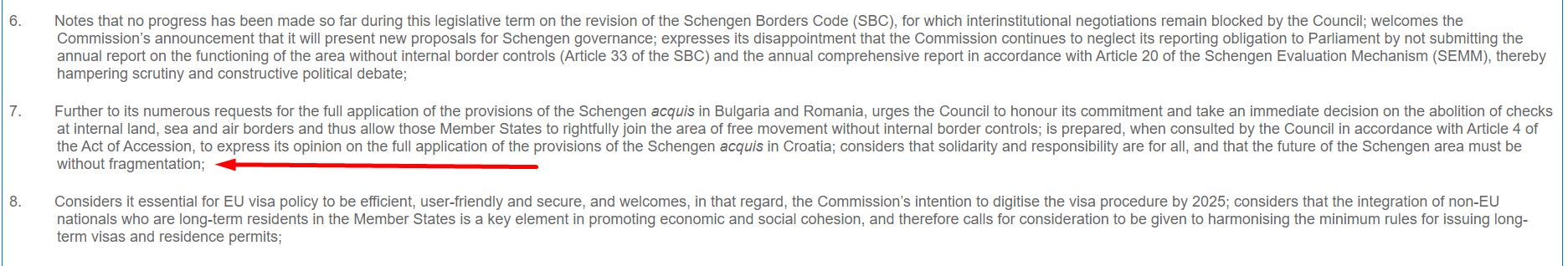 Призыв Европарламента об отмене пограничного контроля с Румынией